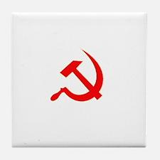 Hammer & Sickle Red Tile Coaster