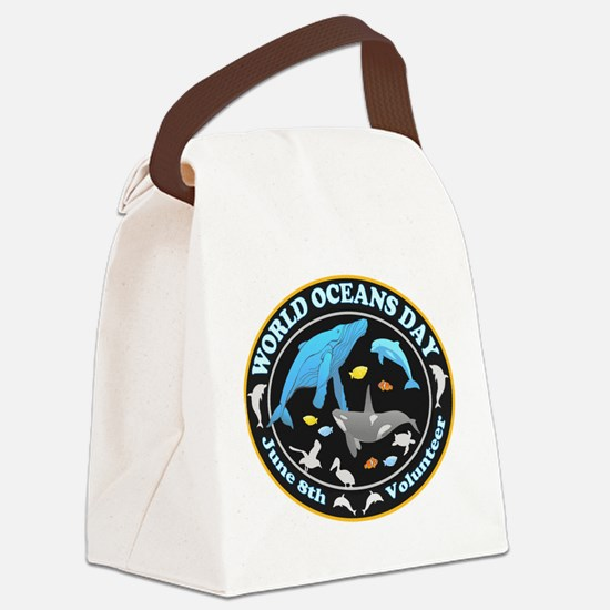 World Oceans Day Canvas Lunch Bag