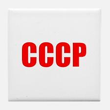 CCCP Red (Dark) Tile Coaster