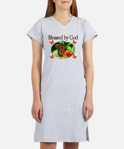 BLESSED BY GOD Women's Nightshirt