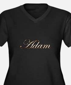 Unique Names Women's Plus Size V-Neck Dark T-Shirt