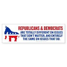GOP and Democrats Bumper Bumper Sticker