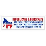 GOP and Democrats Bumper Sticker
