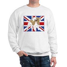 English Bulldog Flag Sweatshirt