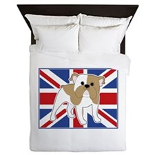 English Bulldog Flag Queen Duvet