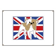 English Bulldog Flag Banner
