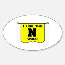 N WORD Oval Decal