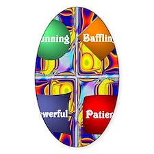 Cunning Baffling and Patiet Bumper Stickers
