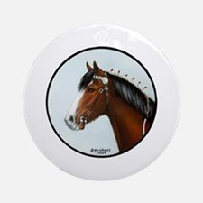 Clydesdale Ornament (Round)
