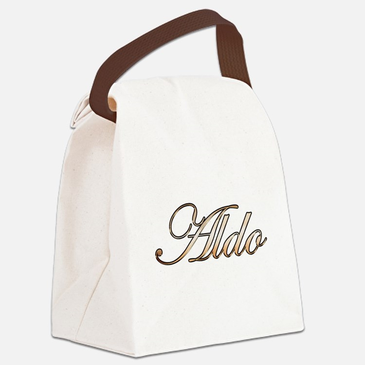 Aldo in Gold Canvas Lunch Bag