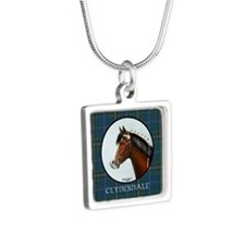 Clydesdale Silver Square Necklace