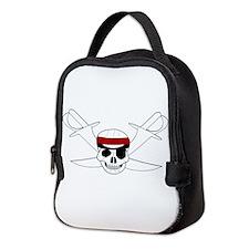 Skull And Swords Neoprene Lunch Bag