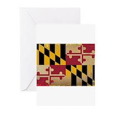 Maryland State Flag VINTAGE Greeting Cards