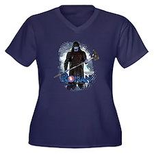 Ronan Vertic Women's Plus Size V-Neck Dark T-Shirt