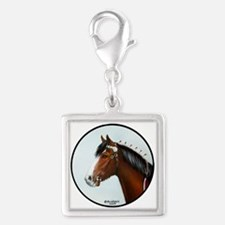 Clydesdale Silver Square Charm