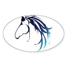 Classic Blue Horse Head Logo Decal