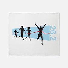 26.2 Marathon Finish Line Throw Blanket