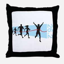 26.2 Marathon Finish Line Throw Pillow