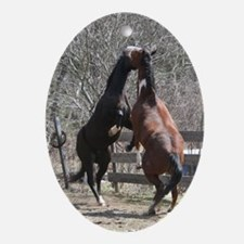 Horseplay Oval Ornament
