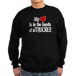 My Heart in the Hands Trucker Sweatshirt (dark)