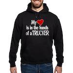 My Heart in the Hands Trucker Hoodie (dark)