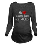 My Heart in the Hand Long Sleeve Maternity T-Shirt