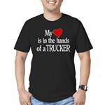 My Heart in the Hands Men's Fitted T-Shirt (dark)