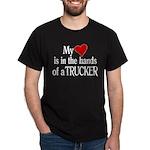 My Heart in the Hands Trucker Dark T-Shirt