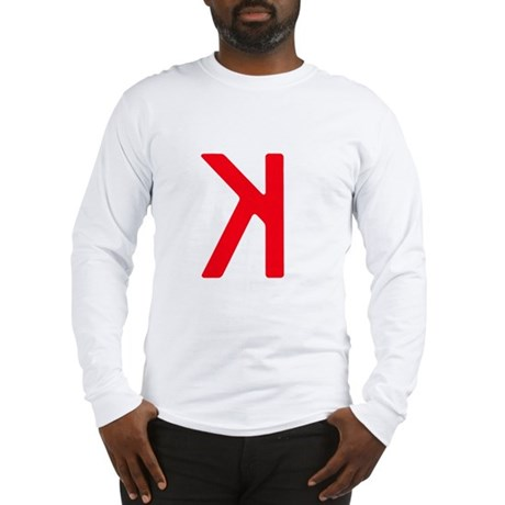Strikeout Looking (backwards K) Long Sleeve T-Shir
