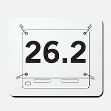 26.2 Running Shirt Tag Mousepad