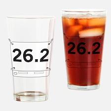 26.2 Running Shirt Tag Drinking Glass