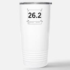 26.2 Running Shirt Tag Travel Mug