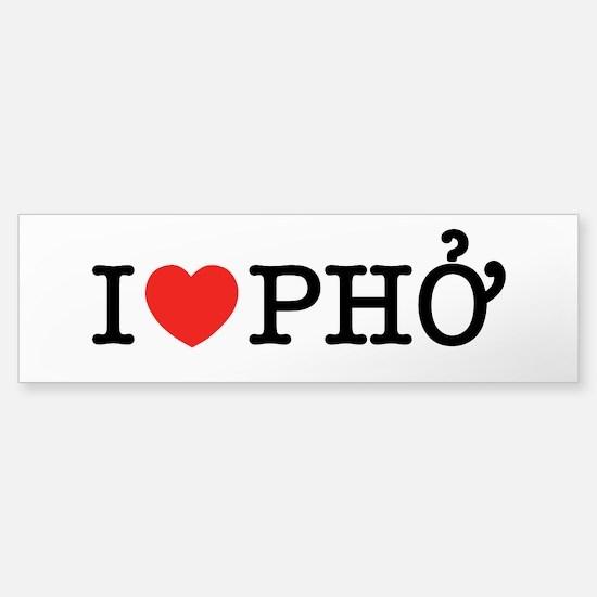I Love (Heart) Pho Bumper Bumper Bumper Sticker