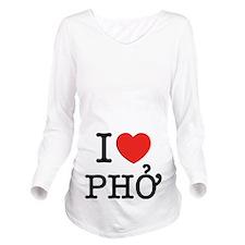I Love (Heart) Pho Long Sleeve Maternity T-Shirt