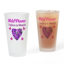 BELIEVE MIRACLES Drinking Glass