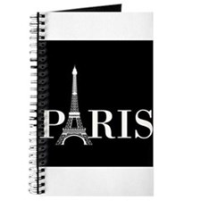 Paris Eiffel Tower Black White Journal