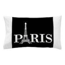 Paris Eiffel Tower Black White Pillow Case