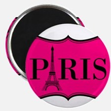 Paris Pink and Black Eiffel Tower Magnets
