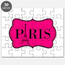 Paris Pink and Black Eiffel Tower Puzzle
