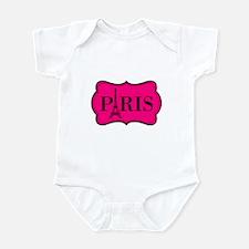 Paris Pink and Black Eiffel Tower Body Suit