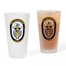 USS Milwaukee LCS-5 Drinking Glass