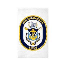 USS Milwaukee LCS-5 3'x5' Area Rug