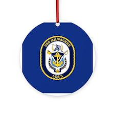 USS Milwaukee LCS-5 Ornament (Round)