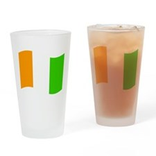 Waving Cote DIvoire Flag Drinking Glass