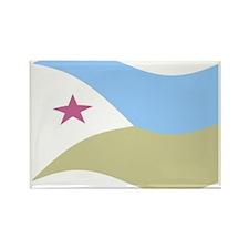 Waving Djibouti Flag Magnets