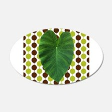 Leaf Heart on Brown and Green Wall Decal