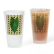 Leaf Heart on Brown and Green Drinking Glass