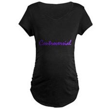 Controversial (purple) Maternity T-Shirt