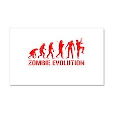 Zombie Evolution Car Magnet 20 x 12