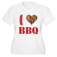 I LOVE BBQ Plus Size T-Shirt